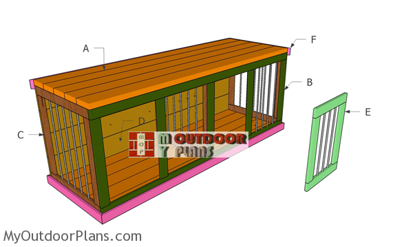 Building-a-double-dog-house-kennel