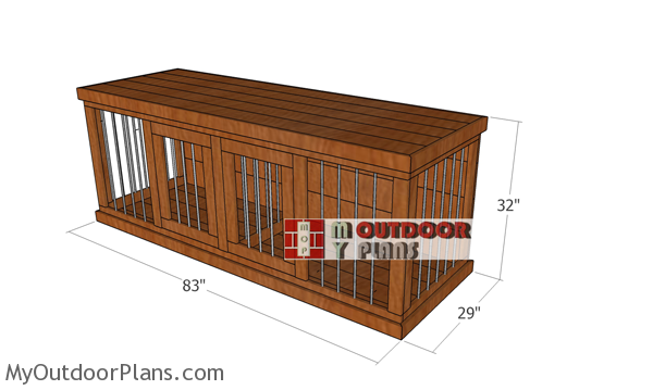 Double-dog-kennel-plans