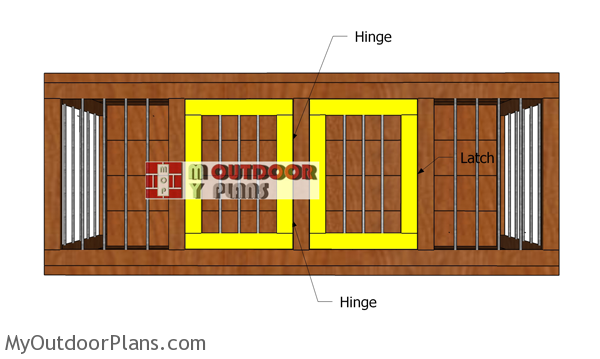 Fitting-the-double-doors-to-the-kennel