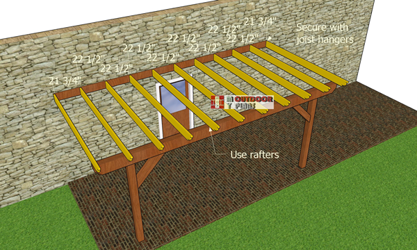 Fitting-the-rafters-to-the-pergola-frame