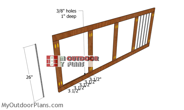 Front-wall-frame-for-dog-kennel