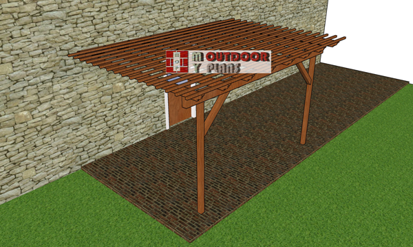 How-to-build-a-10x12-pergola-attached-to-the-house
