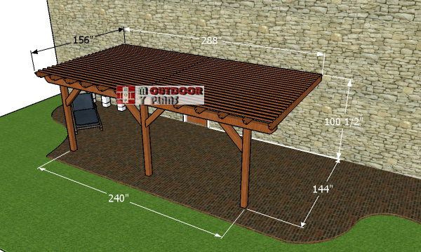 How-to-build-a-12x20-attached-pergola