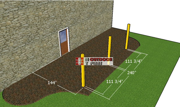 Laying-out-the-12x20-pergola-posts
