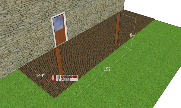 Laying-out-the-posts-for-the-attached-pergola
