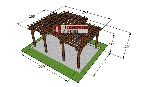 12x20-tiered-pergola-plans---dimensions