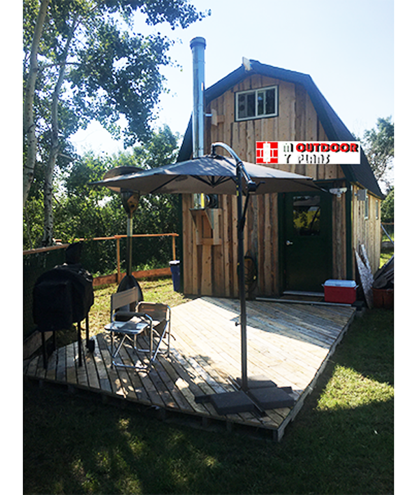 12x24 Gambrel Cabin - DIY Project