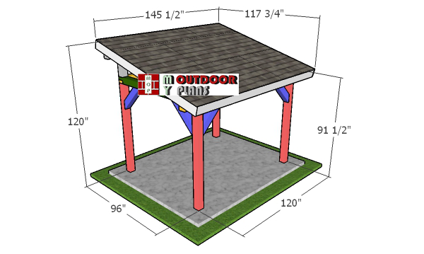 8x10-lean-to-pavilion-plans---overall-dimensions