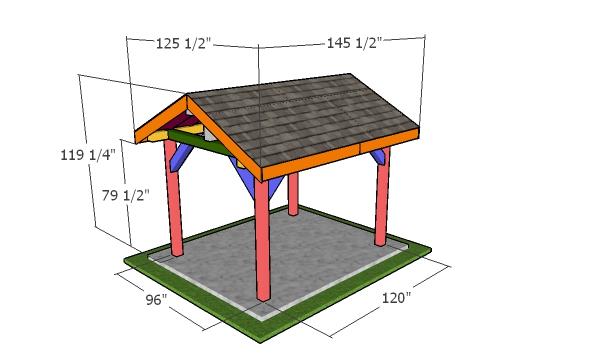 8x10 pavilion - dimensions