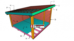 6 Cord Firewood Shed Roof Plans