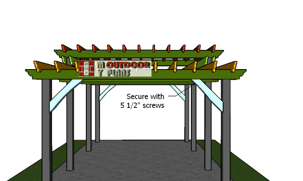 Fitting-the-braces-to-the-pergola