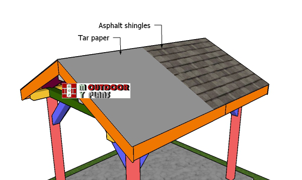 Fitting-the-roofing---8x10-gable-pavilion
