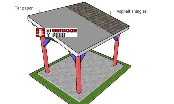 Fitting-the-roofing---8x10-pavilion