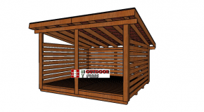 12×12 Firewood Shed Plans – 6 Cord Storage