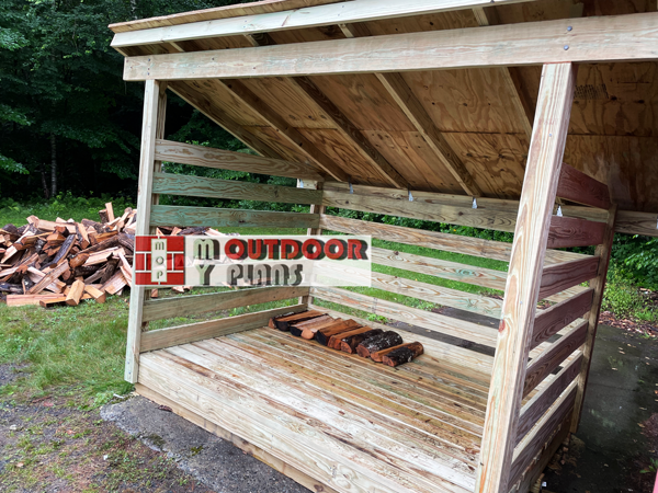 2 Cord 6x8 Firewood Shed - DIY Project
