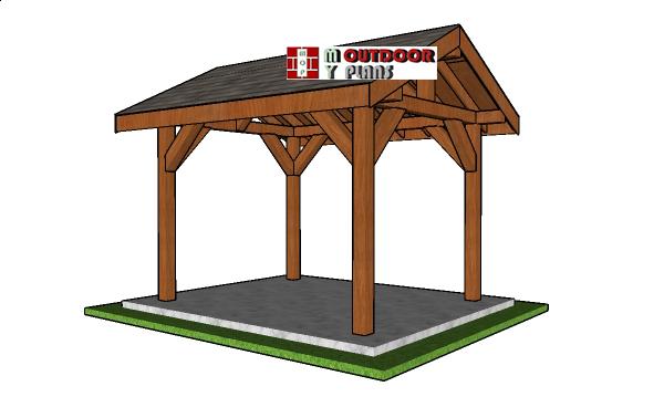 How to build a 8x10 gable pavilion