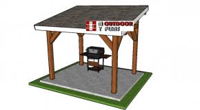 8×10 Lean to Pavilion Plans – PDF Download