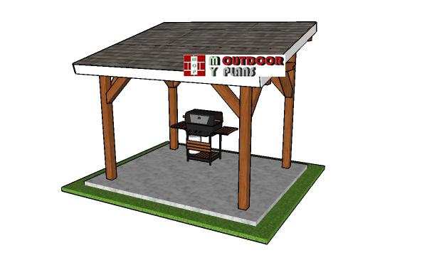 8x10 Lean to Pavilion Plans - PDF Download