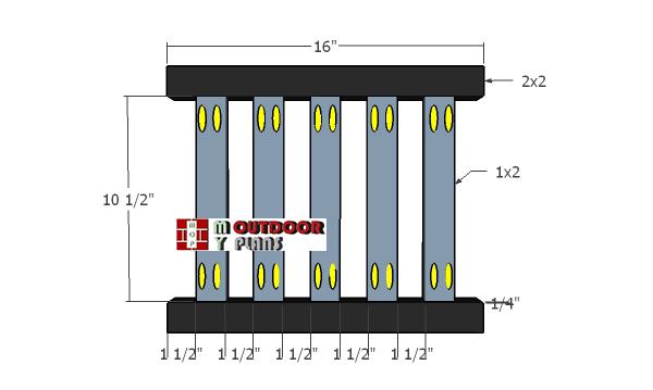 Assembling-the-backrest-panel