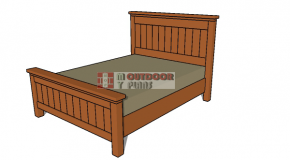 Queen Size Bed Plans – PDF Download
