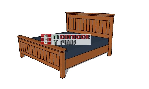 King Size Bed Frame Plans - PDF Download