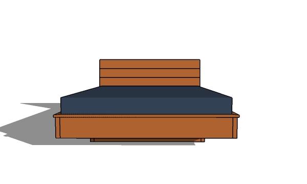 Floating bed frame plans