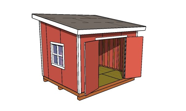 10x12 Lean to shed MOP