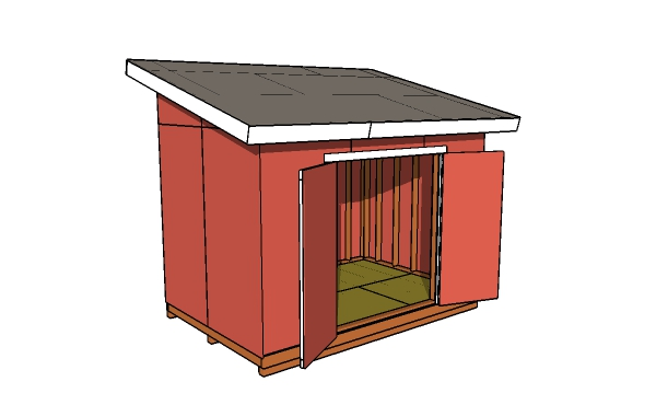 8x12 Shed - Lean to shed MOP