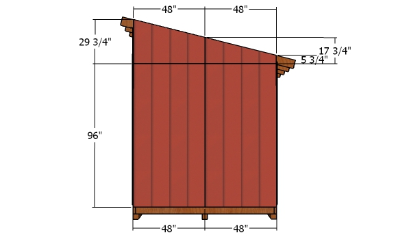 8x12 Shed - side siding