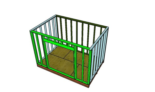 Assemble the shed frame