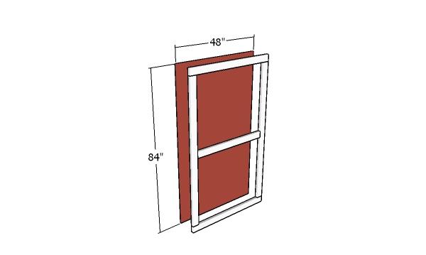 Assembling the double doors