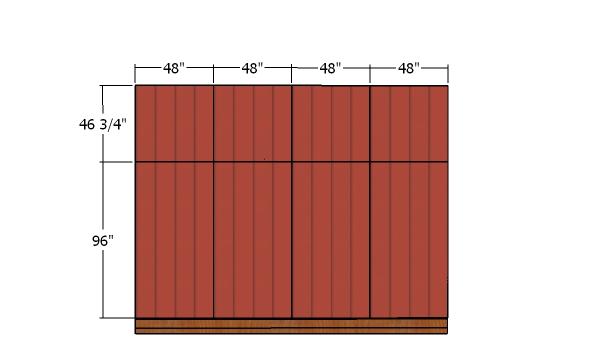 Back wall siding