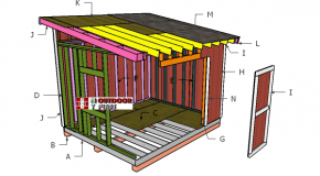 10×12 Lean to Shed Plans – Part II