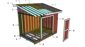 8×12 Lean to Shed – Roof Plans