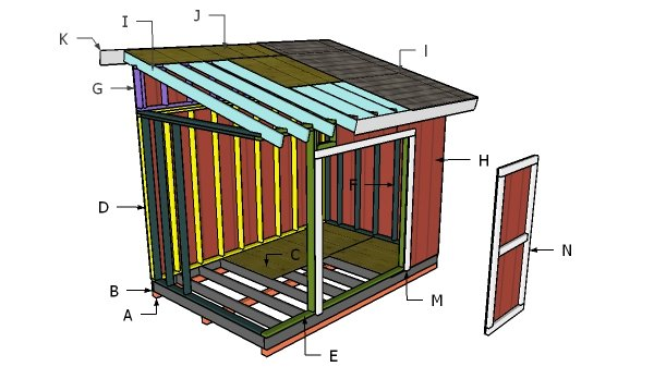 Building a 8x12 lean to shed