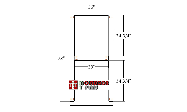 Building-the-door-frame-for-shed