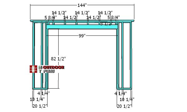 Double-door-wall-frame