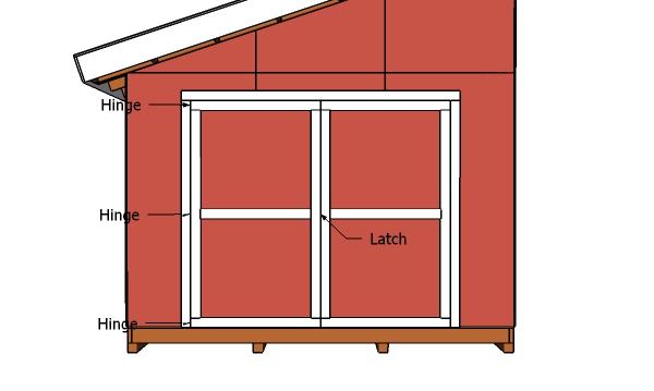 12x16 Shed - Door Plans