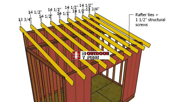 Fitting-the-rafters---8x12-lean-to-shed